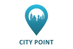 City point logo. Logo design of city place or point Stock Photo