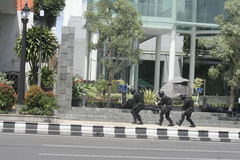 CITY POLICE ANTI-TERRORIST TRAINING SOLO CENTRAL JAVA Royalty Free Stock Images