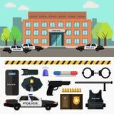 City police station. Vector illustration. vector illustration
