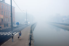 CITY POLLUTION Moscow polluted by smog Royalty Free Stock Images