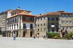 City of Pontevedra Spain. PONTEVEDRA, SPAIN - JUNE 27, 2015: Square in front of the old town hall, near the historic district of the city Stock Image