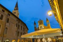 City of Pordenone dusk. Night view of the city of Pordenone Royalty Free Stock Photography