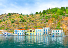 City of Poros island Stock Images