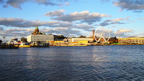 City port of Helsinki, Finland stock video footage