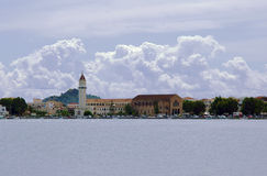 City and port on the island of Zakynthos Stock Images