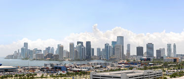 City and Port of Miami Royalty Free Stock Photos
