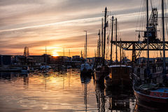 City port in Rostock Royalty Free Stock Photos