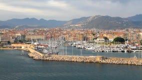 City and port on sea coast. Palermo, Sicily stock video