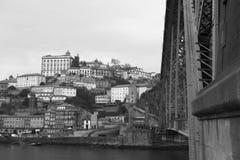 City of Porto and Dom Luis I Bridge, Portugal Stock Image