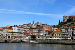 The city of Porto. Excursion boat on the river Douro stock photos