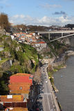 City of Porto in Portugal along Douro River Stock Photos