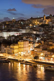 City of Porto in Portugal by Night Stock Photos