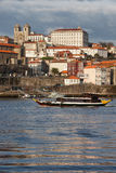 City of Porto Skyline from the River Douro Royalty Free Stock Image