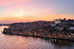 City of Porto at sunset Stock Images