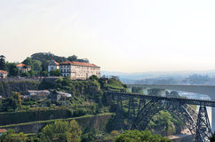 City of Porto with two train bridges Royalty Free Stock Images