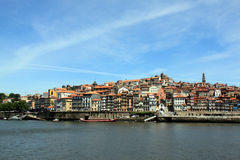 The city of Porto. View on Porto from the Douro river stock image