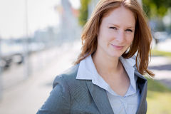 City Portrait of a Businesswoman Royalty Free Stock Photos