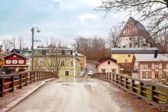 City of Porvoo. Bridge. Ancient Finnish city. Municipal landscape Royalty Free Stock Images