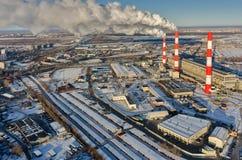 City power plant in winter season. Tyumen. Russia Royalty Free Stock Photography