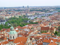 City of Prague from above Stock Images