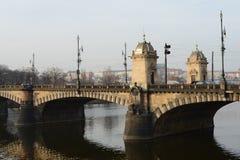 City Of Prague. Prague bridges on the river Vltava Stock Photography