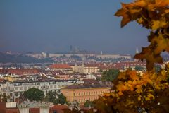 City of Prague, the capital of the Czech Republic. Buildings, monuments, park. European city, heart of Europe royalty free stock image
