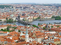 City of Prague with Charles bridge Stock Photos
