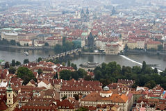 City of Prague with Charles bridge Royalty Free Stock Image