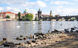 City of Prague and the Charles Bridge, Czech Republic, Europe Stock Photo