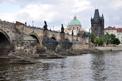 City of Prague and the Charles Bridge, Czech Republic, Europe Royalty Free Stock Photography