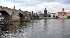 City of Prague and the Charles Bridge, Czech Republic, Europe Stock Images
