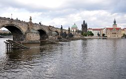 City of Prague and the Charles Bridge, Czech Republic, Europe Royalty Free Stock Images