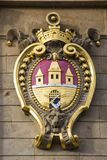 City of Prague Coat of Arms. The Coat of Arms of the city of Prague in Czech Republic Royalty Free Stock Photography