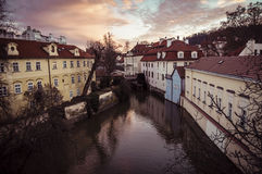 City Prague in Czech Republic. Old mill Royalty Free Stock Images