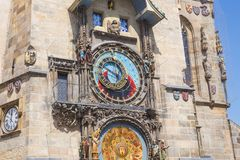 City Prague, Czech Republic. Old Town, famous wall clock and art masterpiece. 2019. 24. April royalty free stock photos