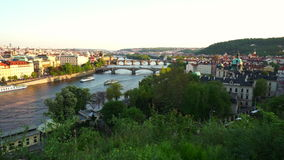 The City of Prague stock footage