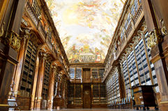 The Philosophical Hall of Strahov Monastery Stock Image