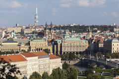City of Prague with Television Tower Stock Images