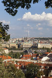 The City of Prague with Television Tower Stock Image