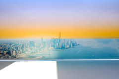City projection on wall Royalty Free Stock Photos