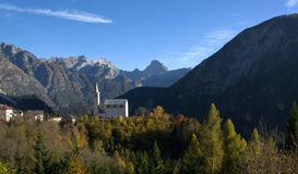 Ampezzo Dolomites a beautiful October day,Valle di Cadore stock image