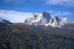 Ampezzo Dolomites a beautiful October day,Valle di Cadore stock images