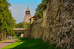 City of Pskov. Travel in the ancient Russian city of Pskov Stock Image