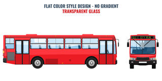 City public bus for advertisement template. Flat Vector. City public bus for advertisement template, front and side view. Isolated Vector illustration with flat Royalty Free Stock Images