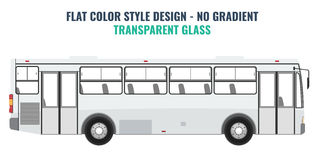 City public bus for advertisement template. Flat Vector. City public bus for advertisement template. Isolated Vector illustration with flat color style design Royalty Free Stock Image
