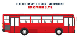City public bus for advertisement template. Flat Vector. City public bus for advertisement template. Isolated Vector illustration with flat color style design Stock Photo