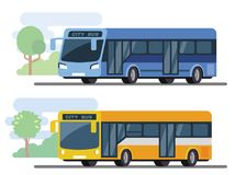 City public bus. Flat style concept of transport Royalty Free Stock Images