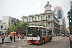 City public bus at Senedo sqaure, Macau Stock Photography