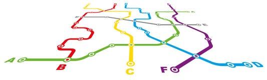 City Public Transport Scheme Stock Image