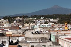 City of Puebla. Mexico. The city of Puebla the capital of the state of Puebla, and one of the five most important Spanish colonial cities in Mexico Royalty Free Stock Photos
